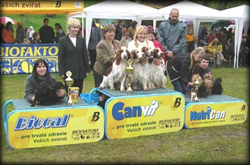 Breeding group in the 2nd place in Banska Bystrica 08/05/2005